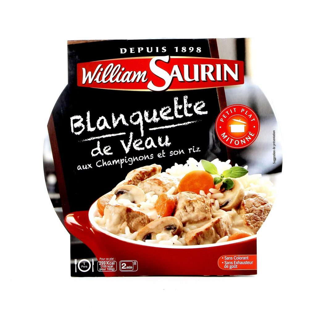 French Cooked Veal Stew With Mushrooms & Rice William Saurin - My French Grocery