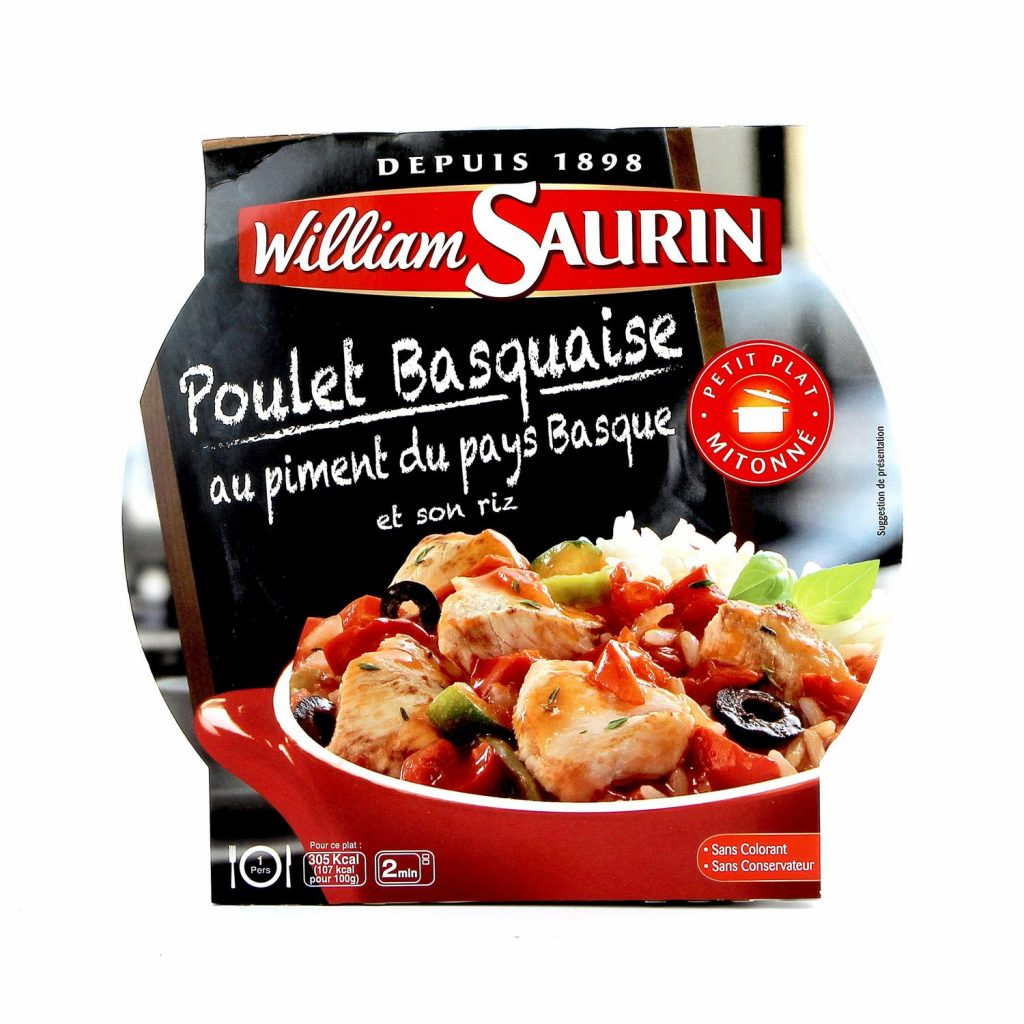 Cooked Basquaise Chicken With Rice William Saurin - My French Grocery