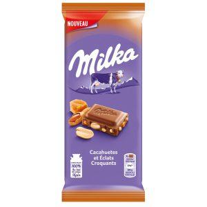 Milk & Peanuts Chips Chocolate Milka X2