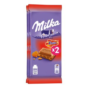 "Milk & Toffee ""Daim"" Chocolate Milka X2"
