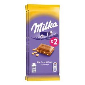 Milk & Crisp Rice Chocolate Milka X2
