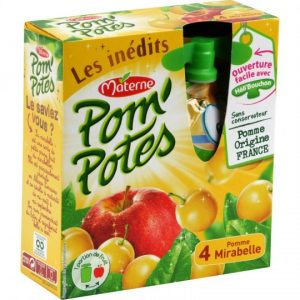 Apple & Cherry Plum Pom'Potes Materne