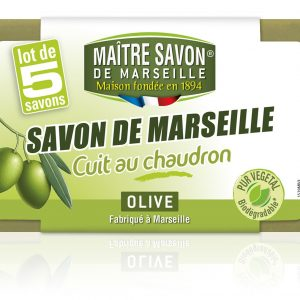 "Soap - Savon de Marseille With Olive Oil ""Maître Savon"" X 5"